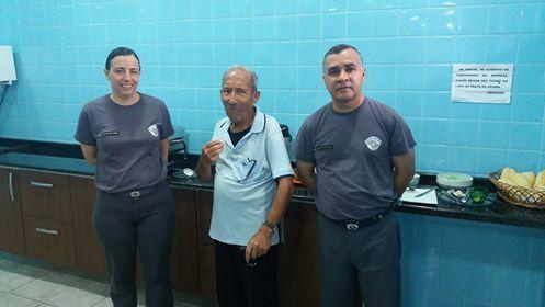 VETERANO SARGENTO RODRIGUES DA FORÇA PÚBLICA VISITA O QUARTEL EM REGISTRO-SP