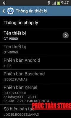 Tiếng Việt Samsung I9060 alt