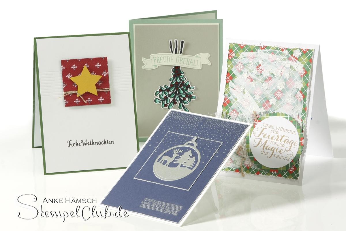 Weihnachtkarten, selbst gestempelt, Stampin up