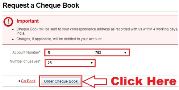 how to send request for cheque book in kotak mahindra bank