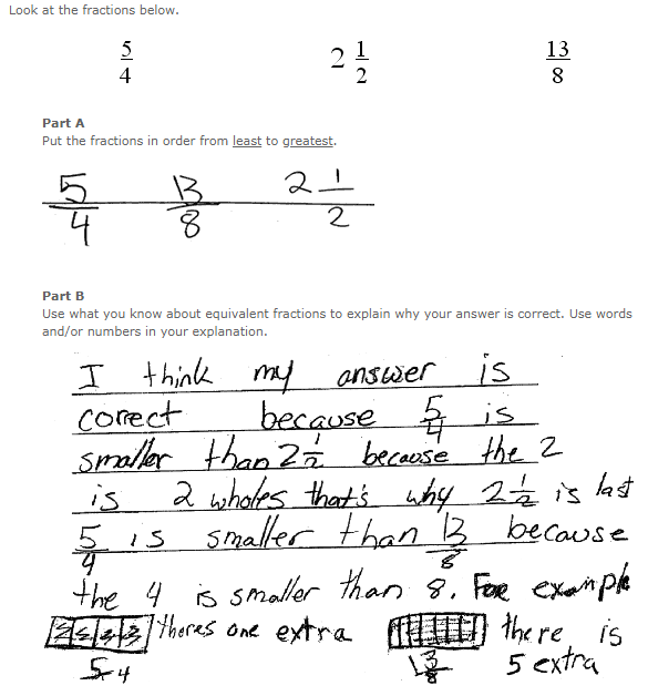 School Improvement in Maryland - Grade 5 Mathematics - Sample Student Responses - Source: http://mdk12.msde.maryland.gov/assessments/k_8/grade5_math_sampleresponses.html
