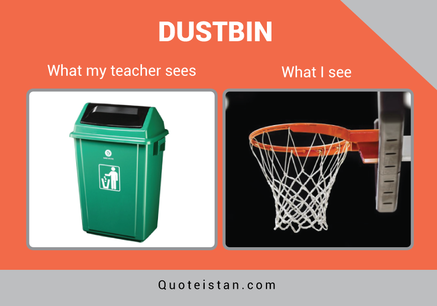 Expectation Vs Reality: DUSTBIN