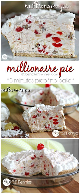 MILLIONAIRE PIE (NO BAKE AND ONLY 5 MINUTES TO PREP!) (VIDEO)
