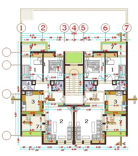 Double Story House Plans 250 Meters Square