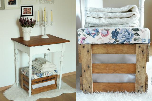 dekoelement weinkiste als hocker mit verstecktem stauraum. Black Bedroom Furniture Sets. Home Design Ideas
