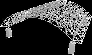 Sistem rangka batang 3 dimensi