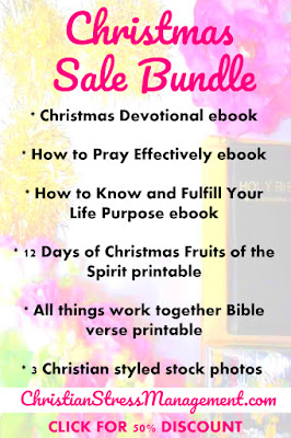 Christmas sale bundle with awesome Christian ebooks,  Christian printables and Christian stock photos
