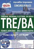 Apostila Analista judiciário Tribunal Regional Eleitoral da Bahia - TREBA
