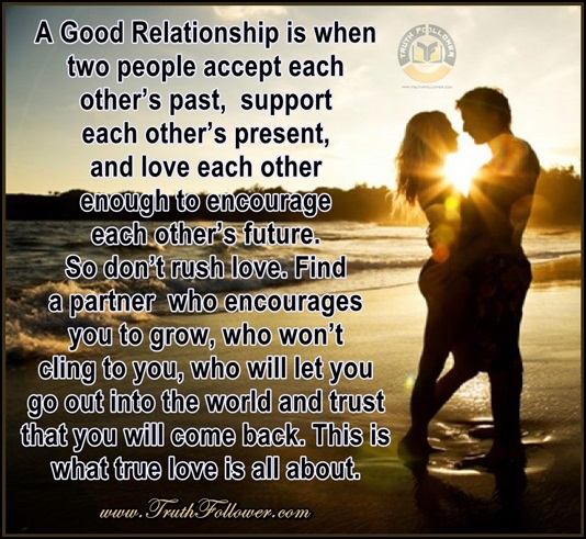 Love Each Other When Two Souls: A Good Relationship Is When Two People
