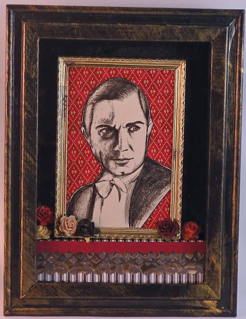 horror icon illustration shadowbox