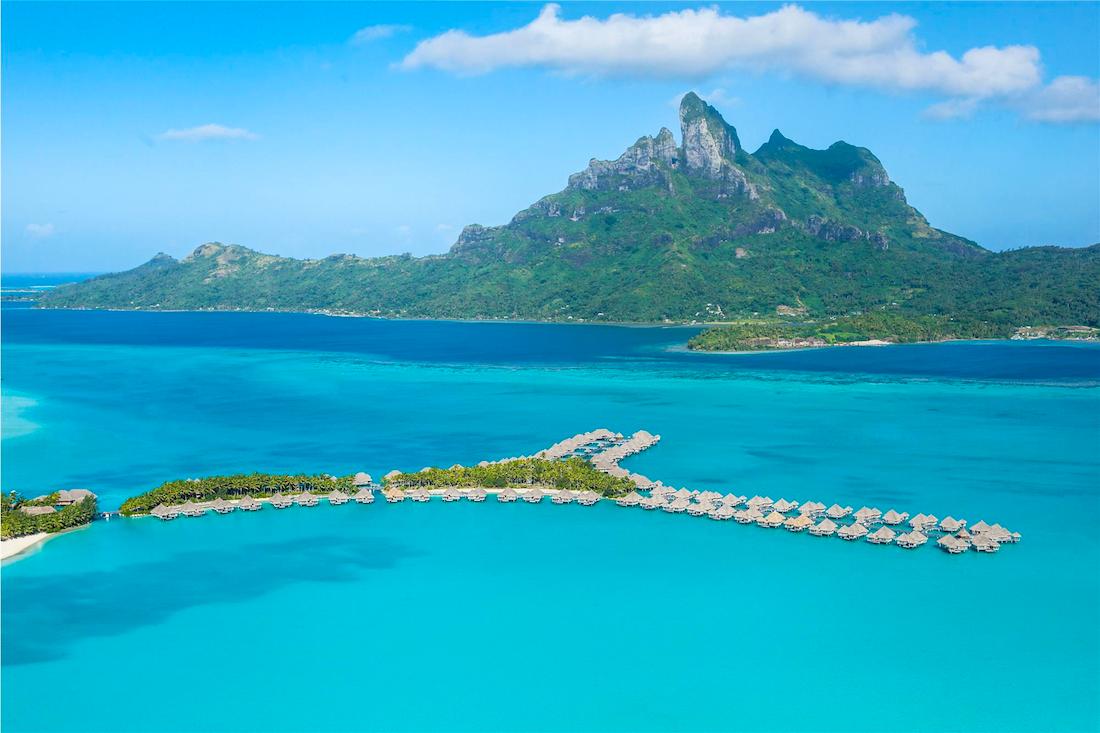 St. Regis Bora Bora Water Aerial
