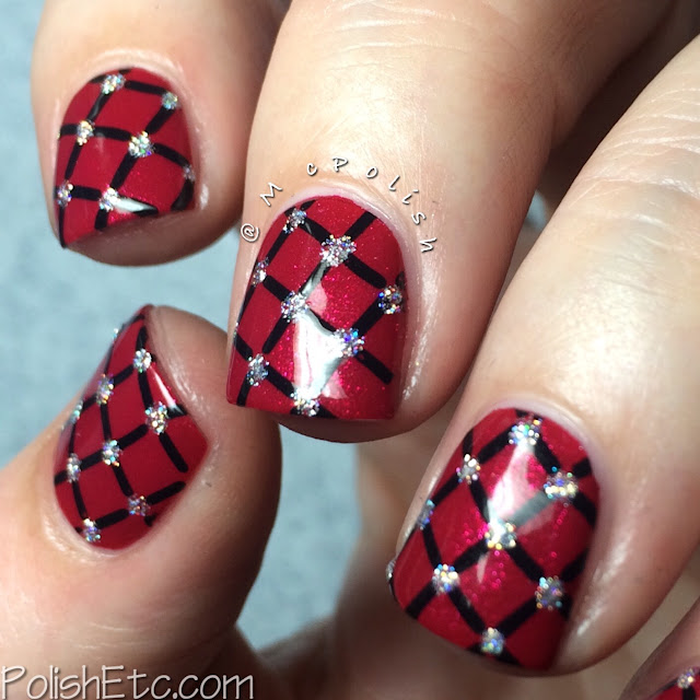 Red nails for #31dc2015 - McPolish - stamping