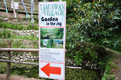 Signage inside Tam-awan Village leading to Garden in the Sky