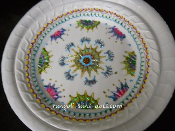 paper-plate-decoration-3.jpg & Plate art decoration ideas - thermocol  paper plate | Kolam by ...