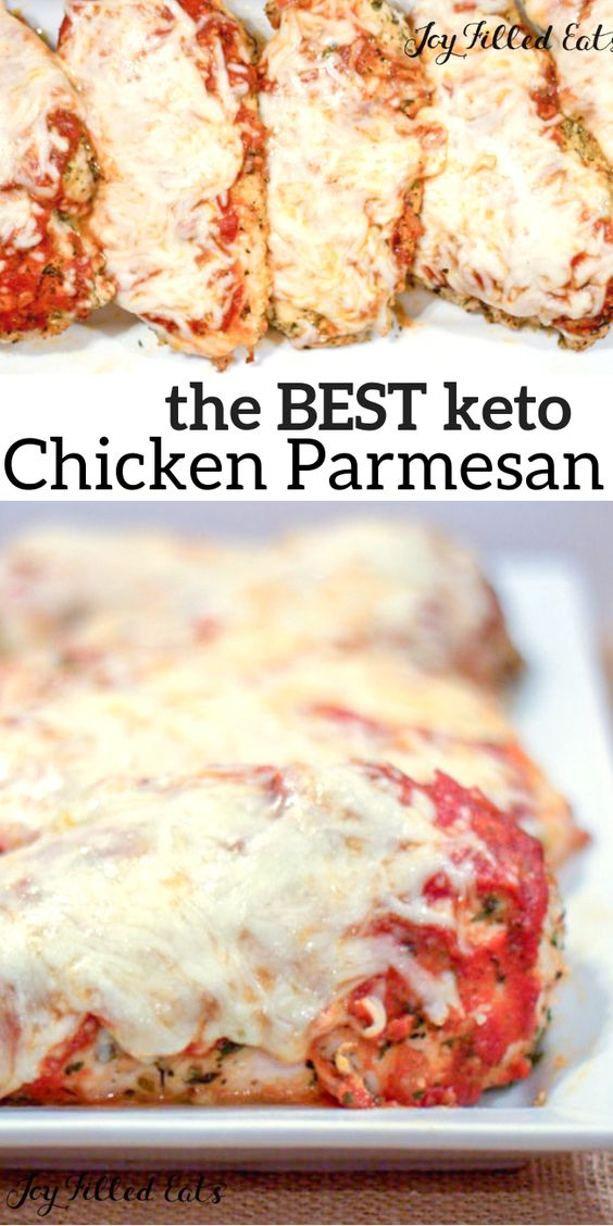 BAKED CHICKEN PARMESAN KETO LOW CARB GLUTEN-FREE