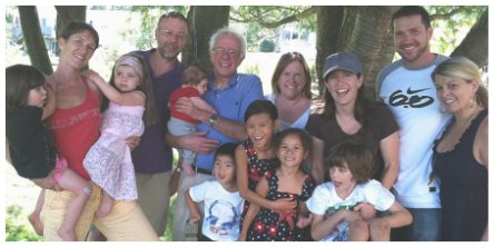 Bernie Sanders family photo