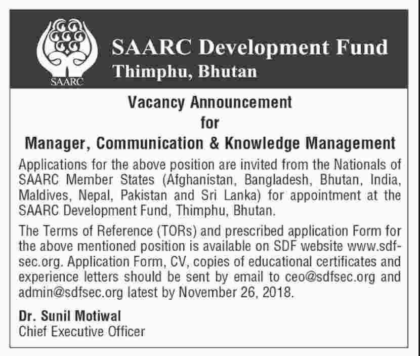 SAARC Development Fund Thimphu, Bhutan