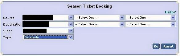IRCTC MSST Mumbai Seasonal Tickets