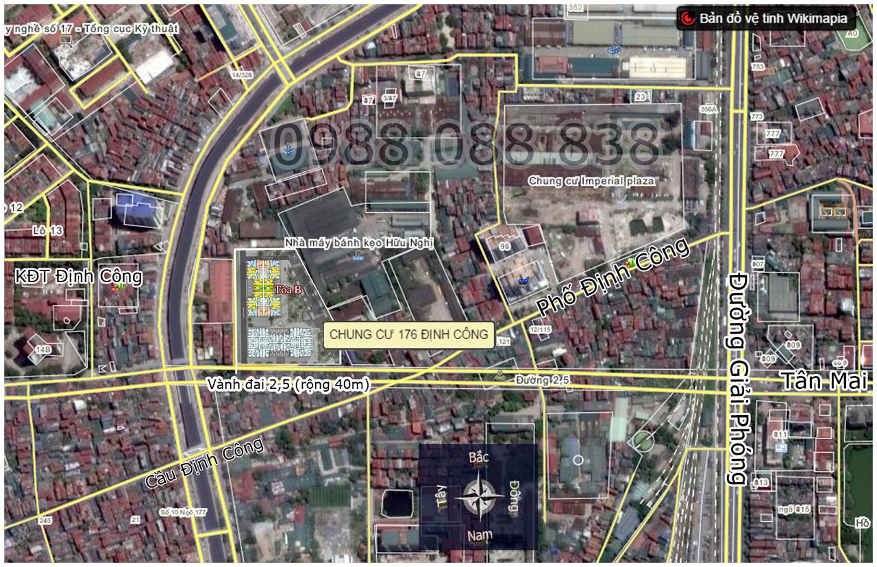 Bản đồ vệ tinh chung cư Sky Central
