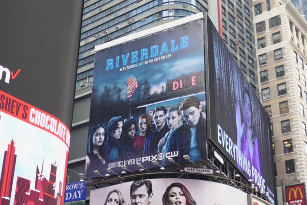Riverdale season 2 billboard Times Square NYC