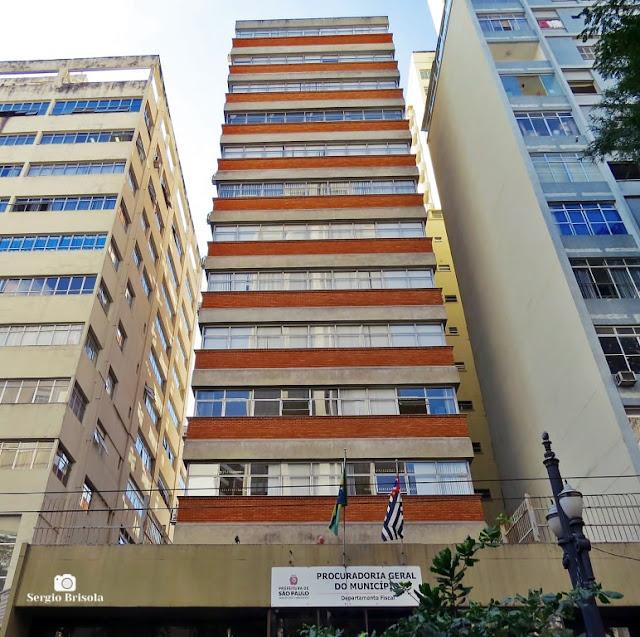Vista ampla do edifício da Procuradoria Geral do Município - Bela Vista - São Paulo