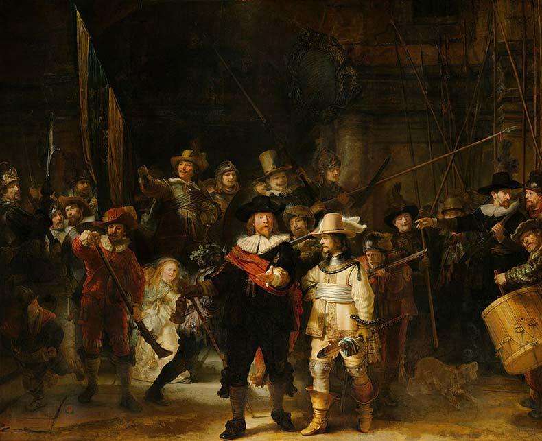 Самые известные картины мира и их художники – Ночной дозор