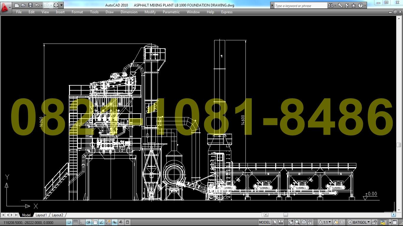 Jual Amp Asphalt Mixing Plant Stone Crusher Mesin Pemecah Batu Hand Pipe Bender Krisbow 3 8 7 8in Kw1500520 Front View