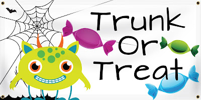 Trunk or Treat Halloween Banner | Banners.com