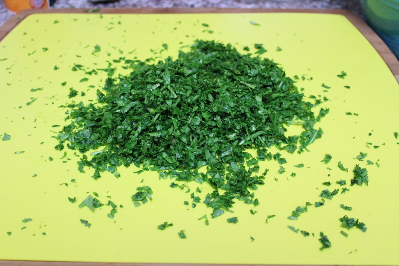 Arugula salsa verde pasta