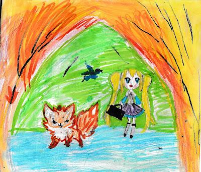 лисичка Огонёк и девочка Света