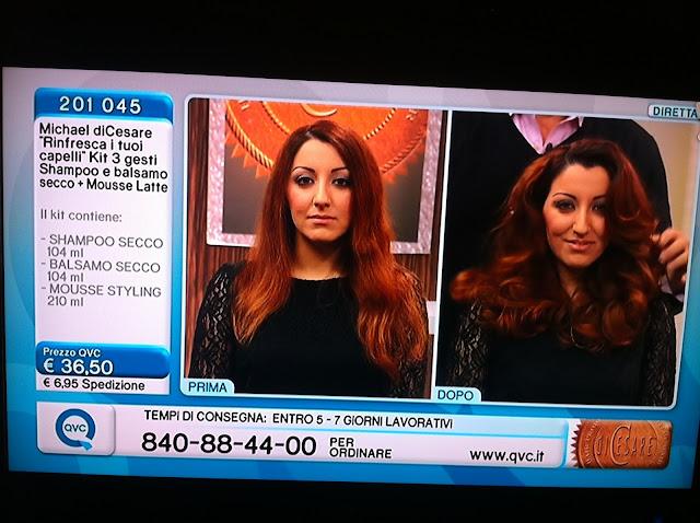 QVC Italia Italy Michael diCesare hair stylist products prodotti per capelli diretta tv live Veronique Tres Jolie Cristina Dragano