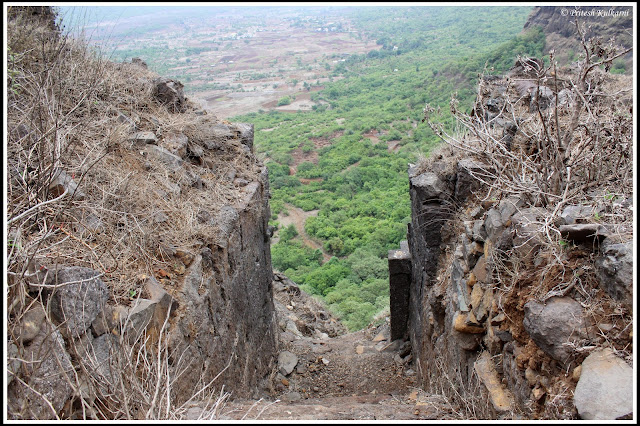 Entrance to Fort on top, Ghangad