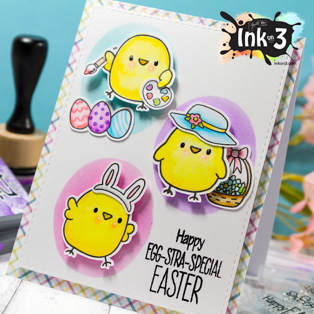 Egg-Stra-Special Lil Chicks Easter Card - Ink On 3 Stamps