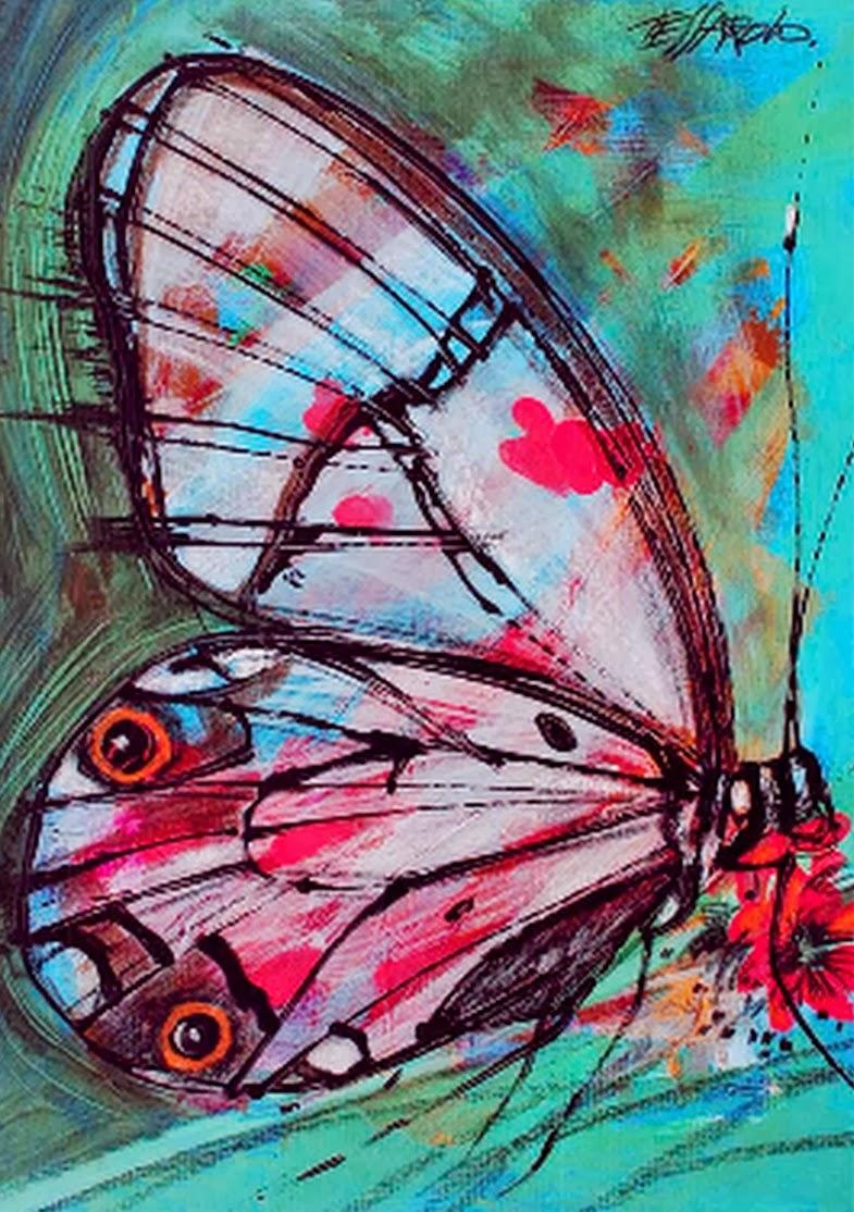 Cuadros modernos pinturas y dibujos pintados a mano - Ideas para pintar cuadros ...