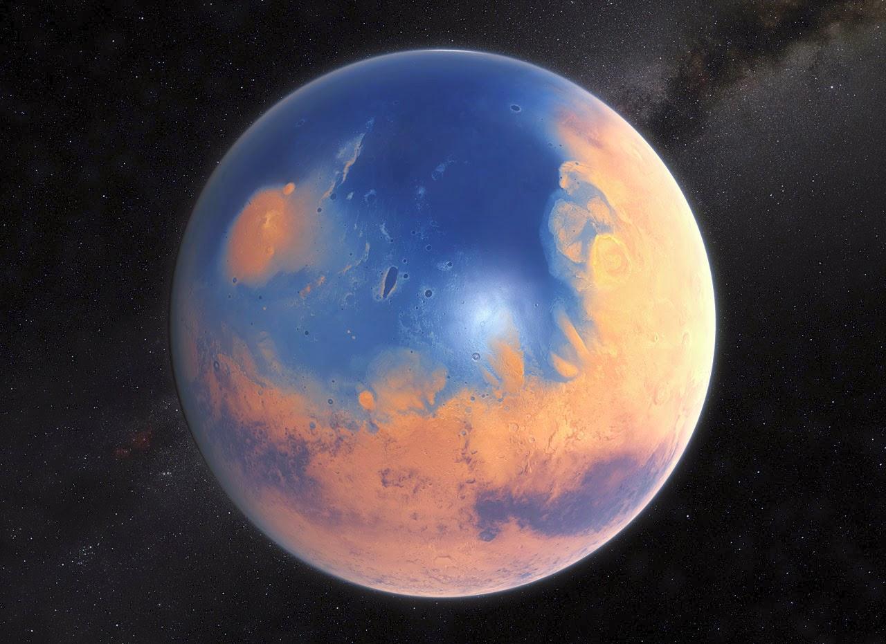 Marte no passado com oceano