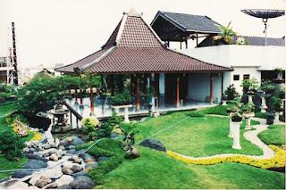 rumah modern etnic jawa