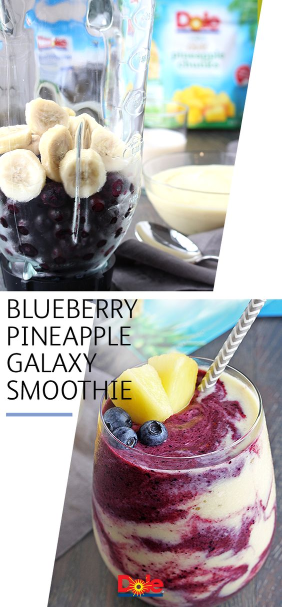 Blueberry Pineapple Galaxy Smoothie