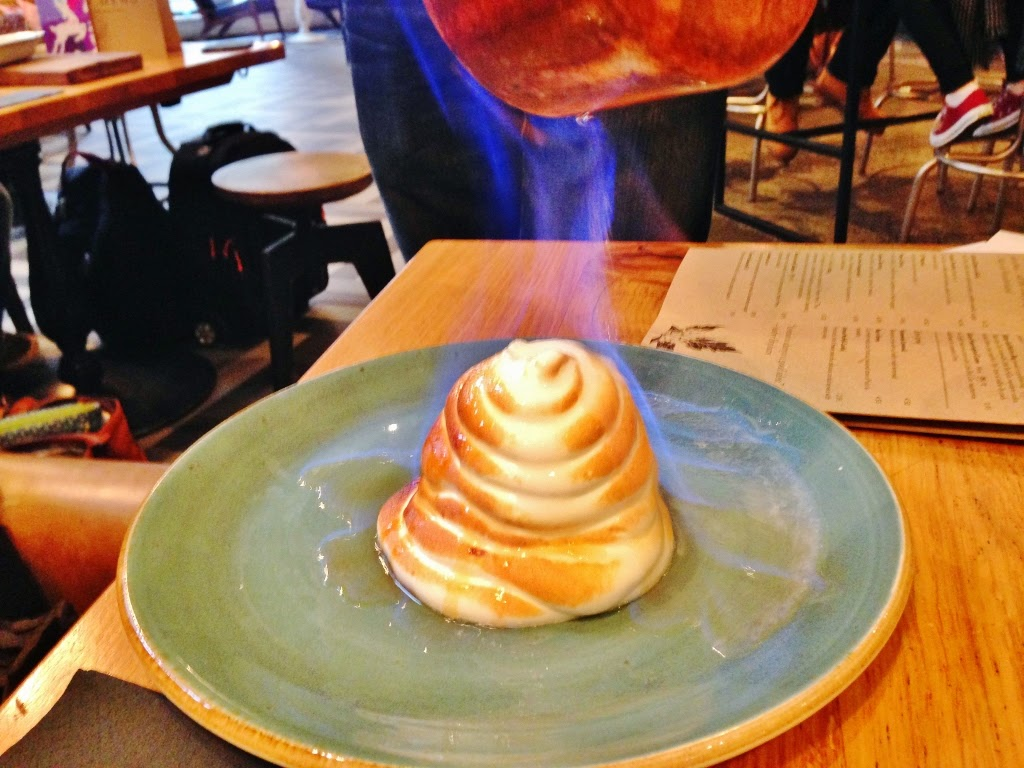 baked alaska pudding food