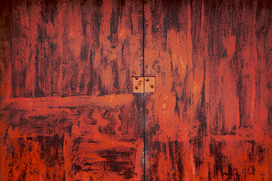 rusty door, urban decay, urban photography, contemporary photography, urban photo, rust, industrial, art, Sam Freek,