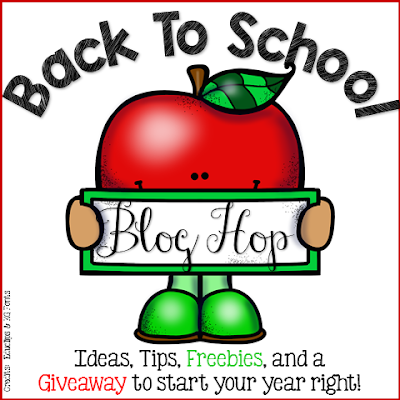 Back to School Blog Hop! Ideas, Tips, Freebies, and a Giveaway to start your year right!