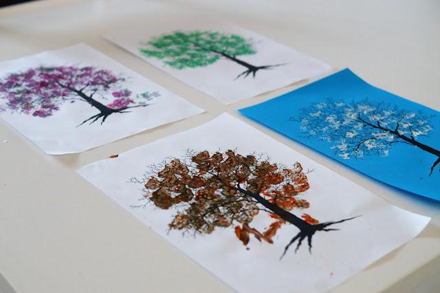 Drzewa o różnych porach roku