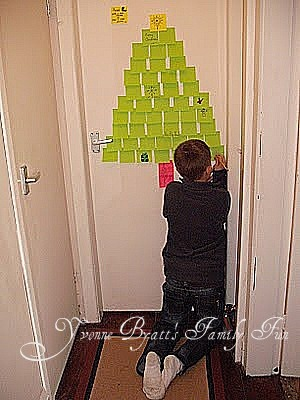 We Arrange The Green Post It Notes Sticky In Shape Of A Christmas Tree Triangle