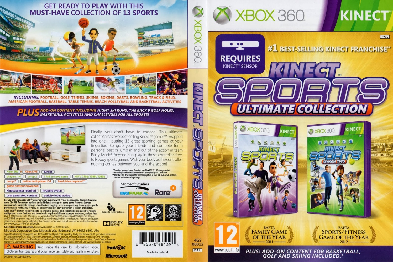 RGH360LTU: XBOX 360/KINECT KINECT SPORTS ULTIMATE COLLECTION
