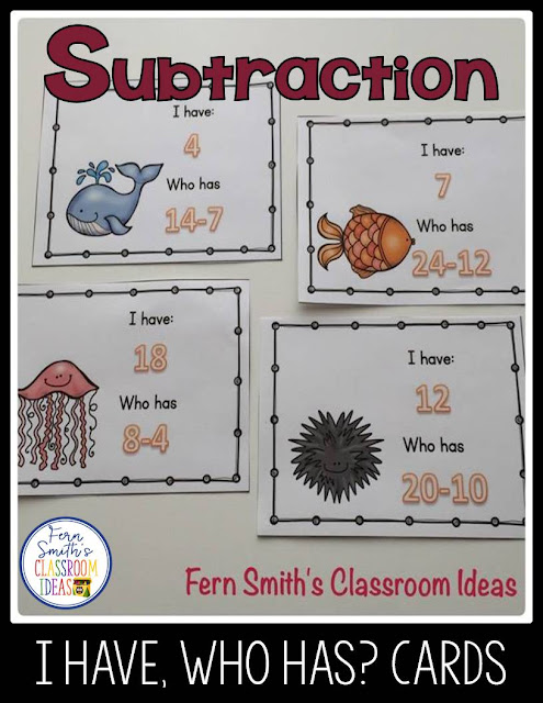 This I Have, Who Has? Subtraction Facts Includes Teacher Directions, Teacher Answer Key and 20 Subtraction Doubles Cards. Perfect for REVIEW! Whole class lessons, tutoring, small RTI groups, all sorts of great ways to use these I Have, Who Has? Subtraction Facts Cards.