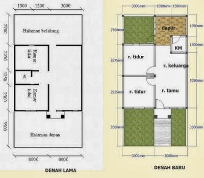 Gambar Denah Rumah Minimalis 2014 Type 21 | Gambar Desain ...