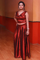 Tamil Actress Anisha Xavier Pos in Red Dress at Pichuva Kaththi Tamil Movie Audio Launch  0012.JPG