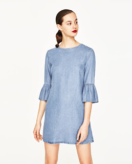 zara sleeves with frilled cuffs