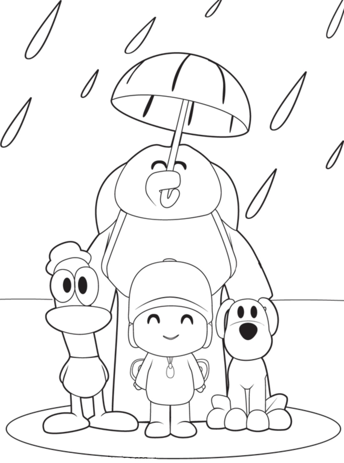 Pocoyo Coloring Pages ~ Free Printable Coloring Pages