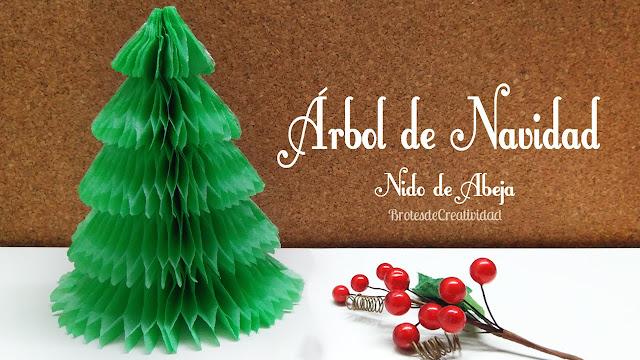 Brotes De Creatividad Como Hacer Arbol De Navidad En Nido De Abeja - Hacer-arboles-de-navidad