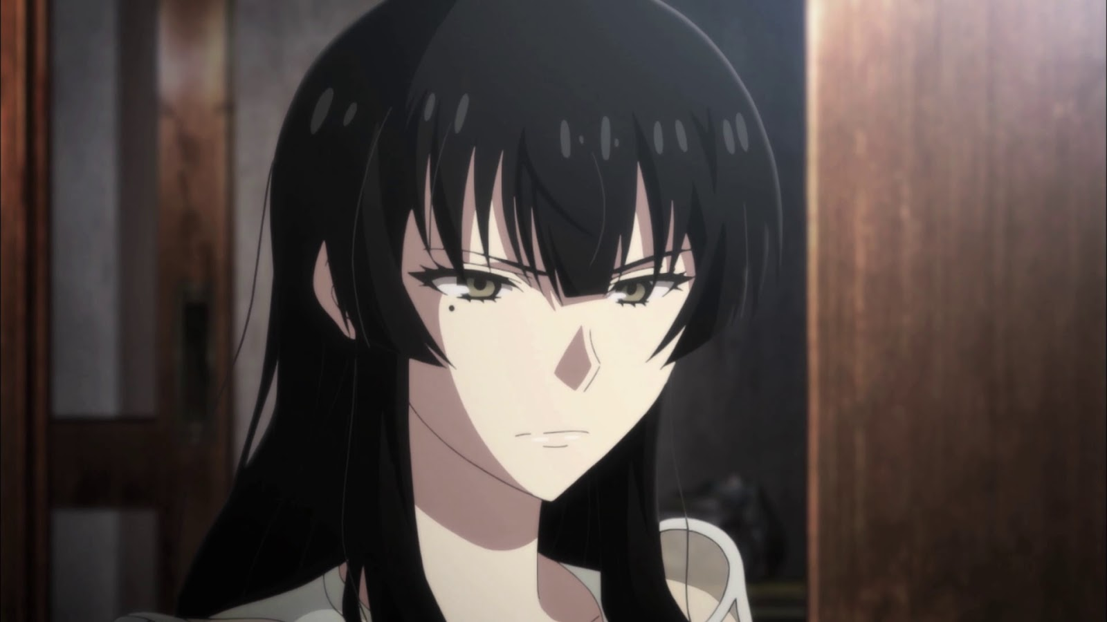 Onee San Dengan Oppai Yang Lumayan Berisi Postur Tinggi Kulit Putih Rambut Hitam Mole Dibawah Mata Kanannya Ini Termasuk Dalam Karakter Anime